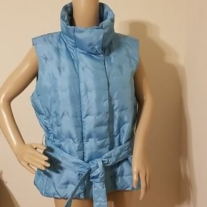 Talbots Petite Sleeveless Down Quilted Puffer Vest